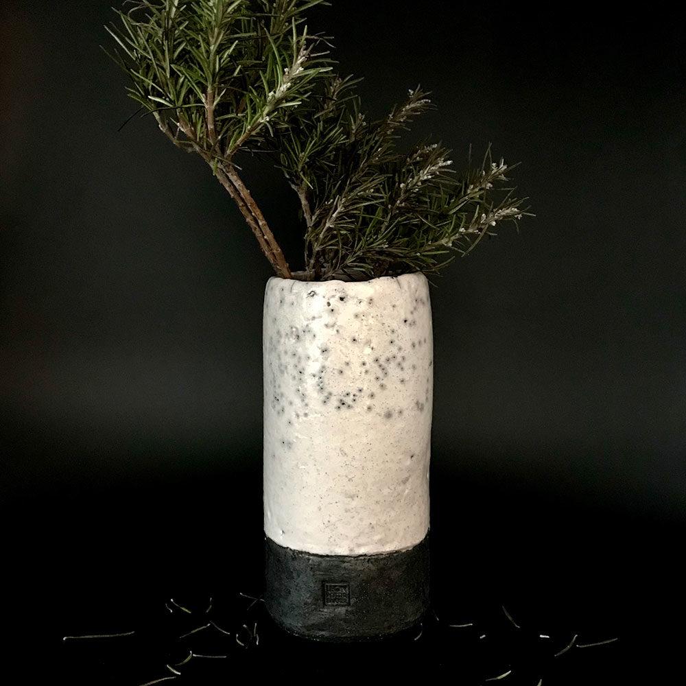 Medium Raku Vase #leonpotterbakker