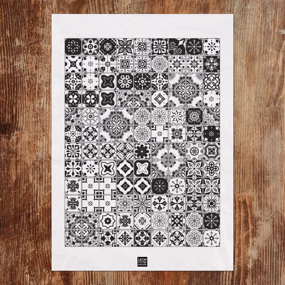 Charcoal A2 underglaze transfer print. Leon Potterbakker